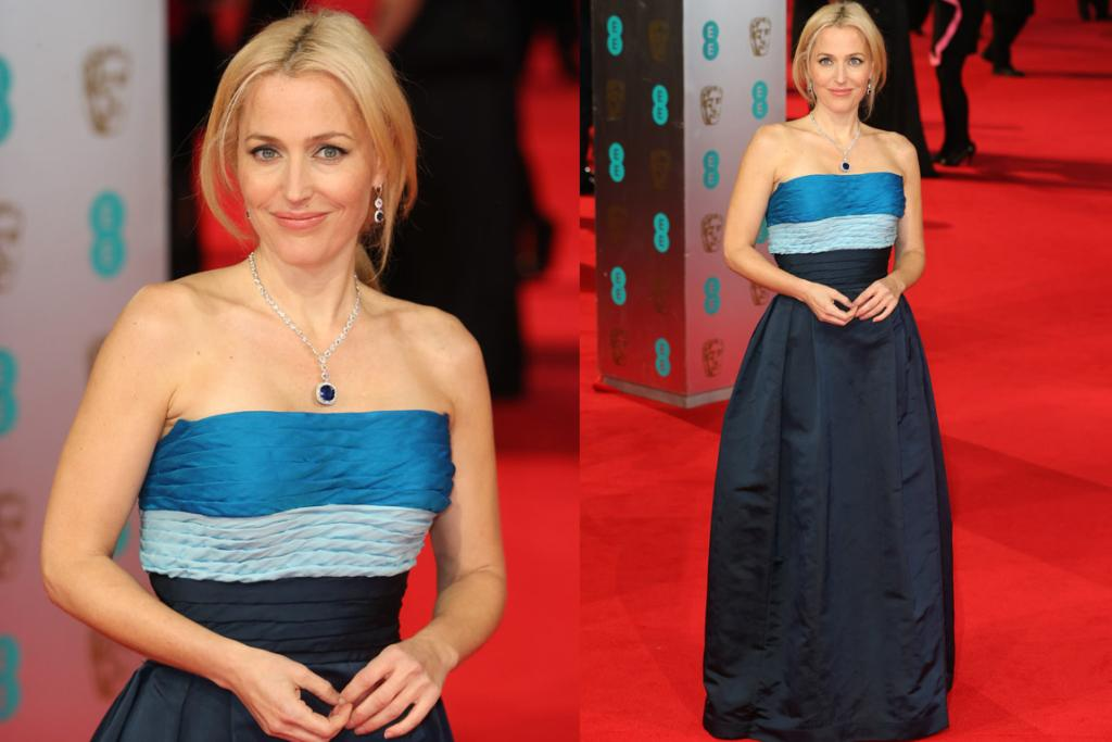 THE MEH: Sometimes when people wear 'vintage' I'm like, 'well, it's cool because it's old buuuuut bras were really clumsy back in the forties and so bodices from then make it look like you've stuffed your bra with toilet paper'. This is exactly how I feel about Gillian Anderson's 1949 Balmain dress. I have a girl crush of sexuality-questioning levels on Gill and I just don't think this does her justice. That necklace is a bad choice and it's a fine line between an 'artfully-messy' up do and hair that just looks like you've had a nap on the couch and not taken your ponytail out.