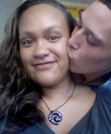TRAGIC END: Casey Nathan, kissed here by Hayden Tukiri, died six hours after giving birth.