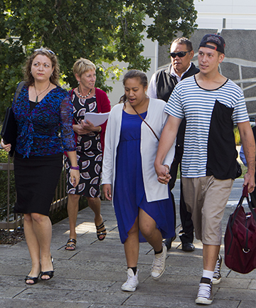 SEEKING ANSWERS: Friends and family of Casey Nathan arrive at court. They provided a list of 10 concerns they wanted addressed.