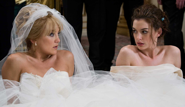 CHILL OUT: If you attempt to micromanage every aspect of your big day, a la these two in Bride Wars, things are bound to turn to custard.