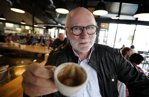 BEAN THERE: Screenwriter and The Dominion Post cartoonist Tom Scott has written his second play Caffeine Warriors, set in a cafe.
