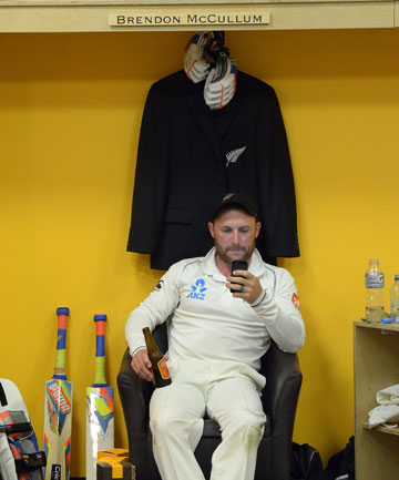 Brendon McCullum in the NZ dressing room