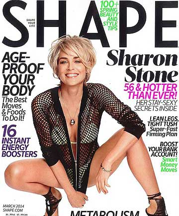 IN GOOD SHAPE: 56-year-old actress Sharon Stone.