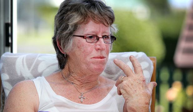 IN PAIN: Erlene Taylor watched her own colonoscopy unfold on a screen when her sedation failed.