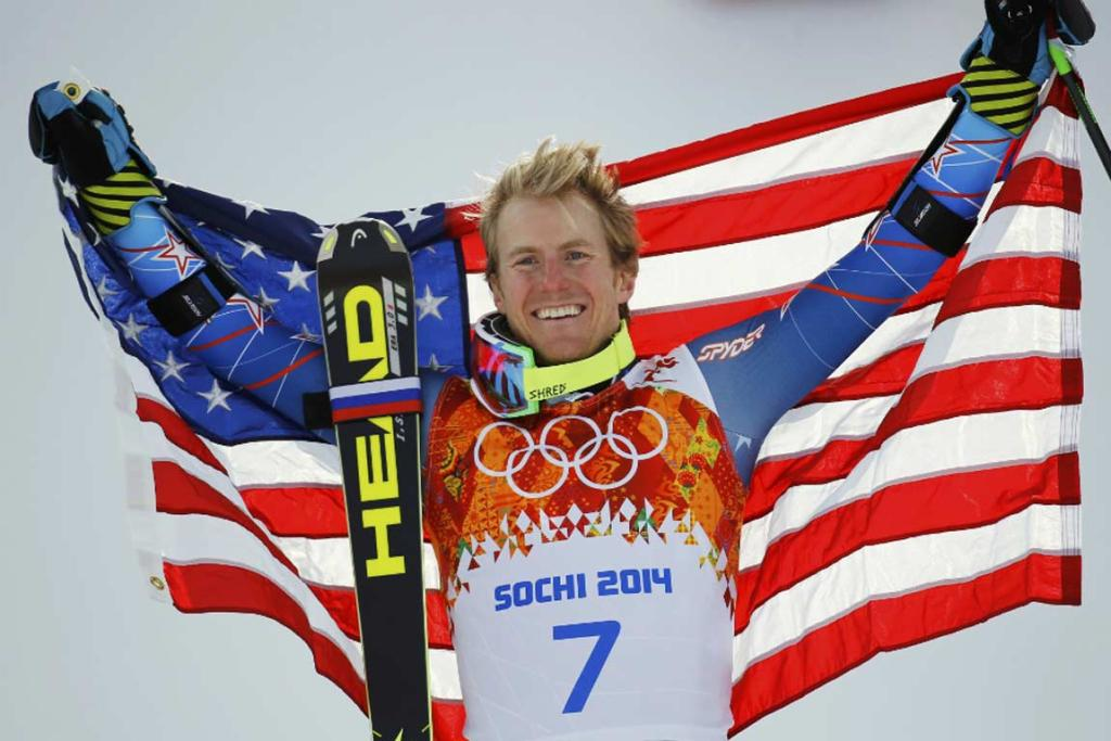 Ted Ligety exorcised some Olympic demons with victory in the men's giant slalom.