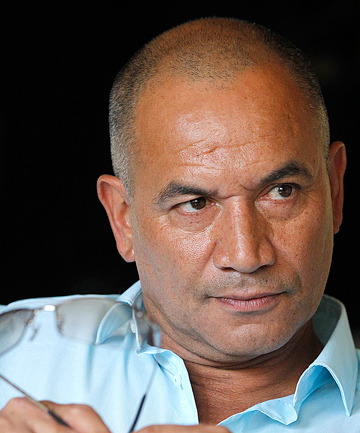 WISE WORDS: Temuera Morrison used to lead a kapa haka group and offers advice to contestants on the show.