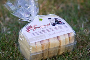 SHORT ANSWER: Mr Griffith sells this shortbread to raise money for people in third world countries.