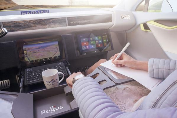 Rinspeed has converted a Tesla Model S into a mobile office concept.