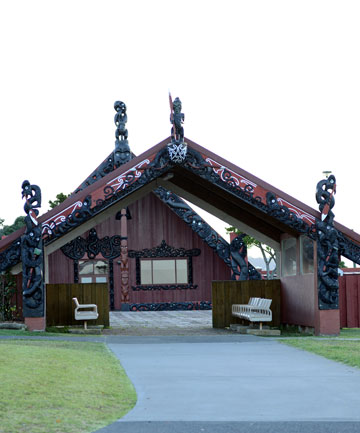 Marae at Bastion Point.