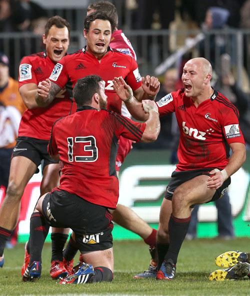 SUPER 15 RUGBY: Crusaders v Reds playoff match at AMI Stadium, Christchurch.