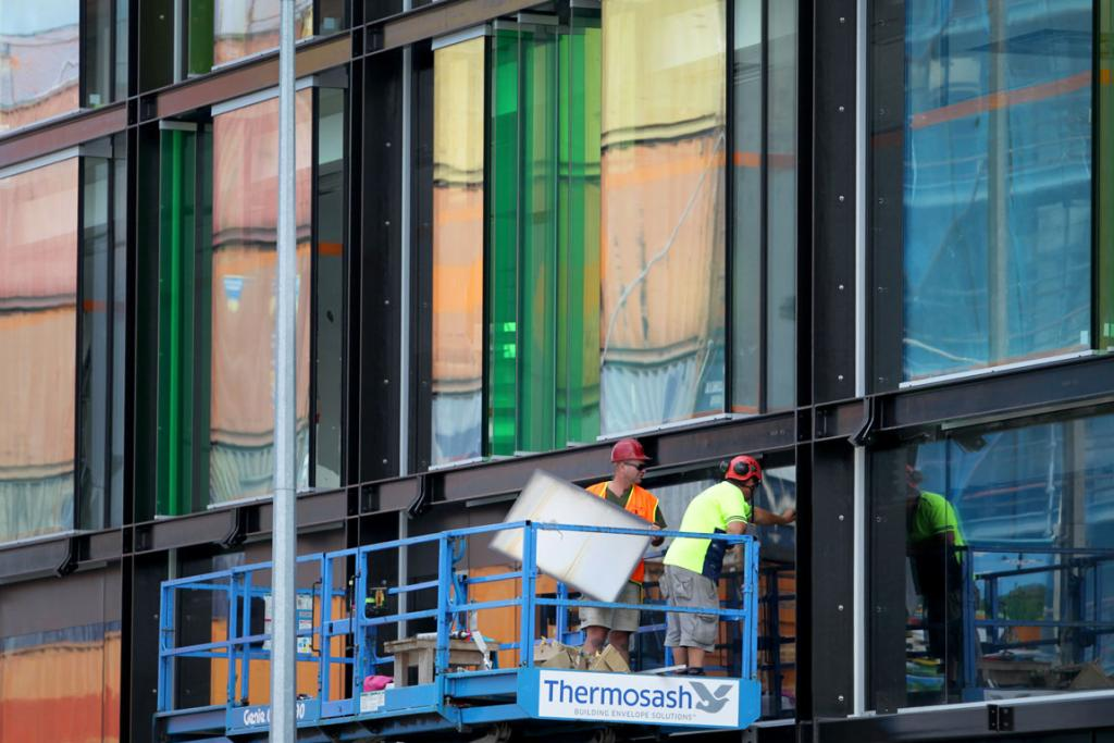 40 BILLION BEING SPENT LOCALLY:  Construction of Stranges Building on the High, Lichfield, Manchester intersection.