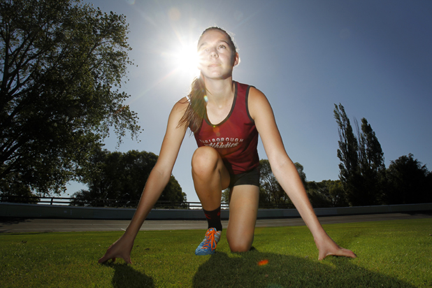 Need for speed: Young Marlborough athlete Lucy Sheat has been scorching her way down and around the track this summer.