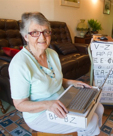 New Zealand Society of Genealogists branch committee member Mary Skipworth
