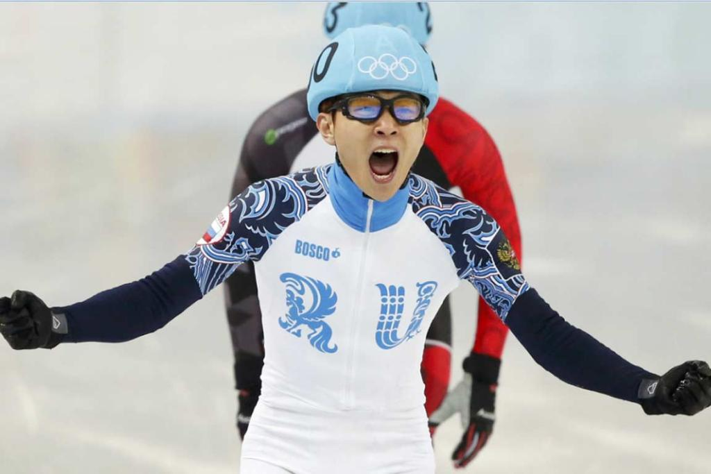 Russia's Viktor Ahn collected his second and third gold medals in Sochi on Day 14, and fifth and sixth overall.