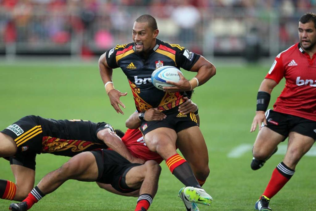 Chiefs centre Robbie Fruean has a barnstroming game against his former Crusaders team.