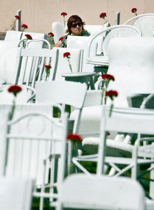 MEMORIAL CHAIRS: Anniversary of February 22nd 2011 earthquake.