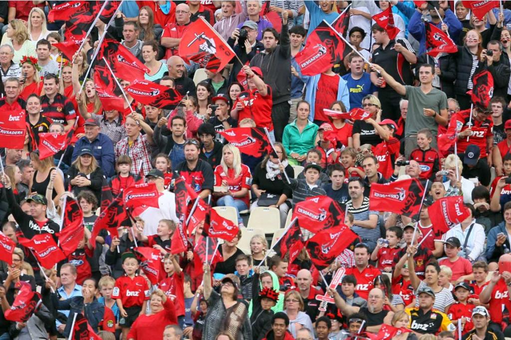 Almost 17,000 Crusaders fans packed into Christchurch Stadium for the season opener.