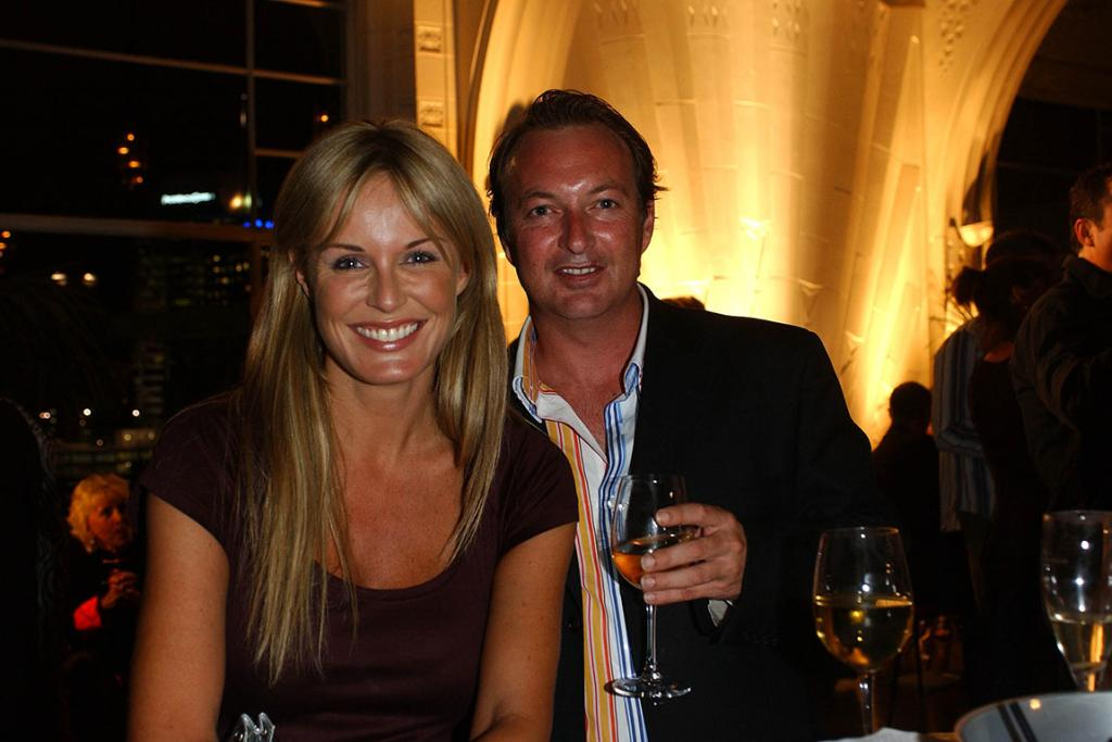Charlotte Dawson and Roger Wylie at the Heritage for the launch of the new luxury apartments , The Stanley.