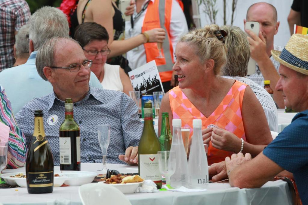 Auckland Mayor Len Brown and his wife Shan Inglis at the Auckland Pride Parade.