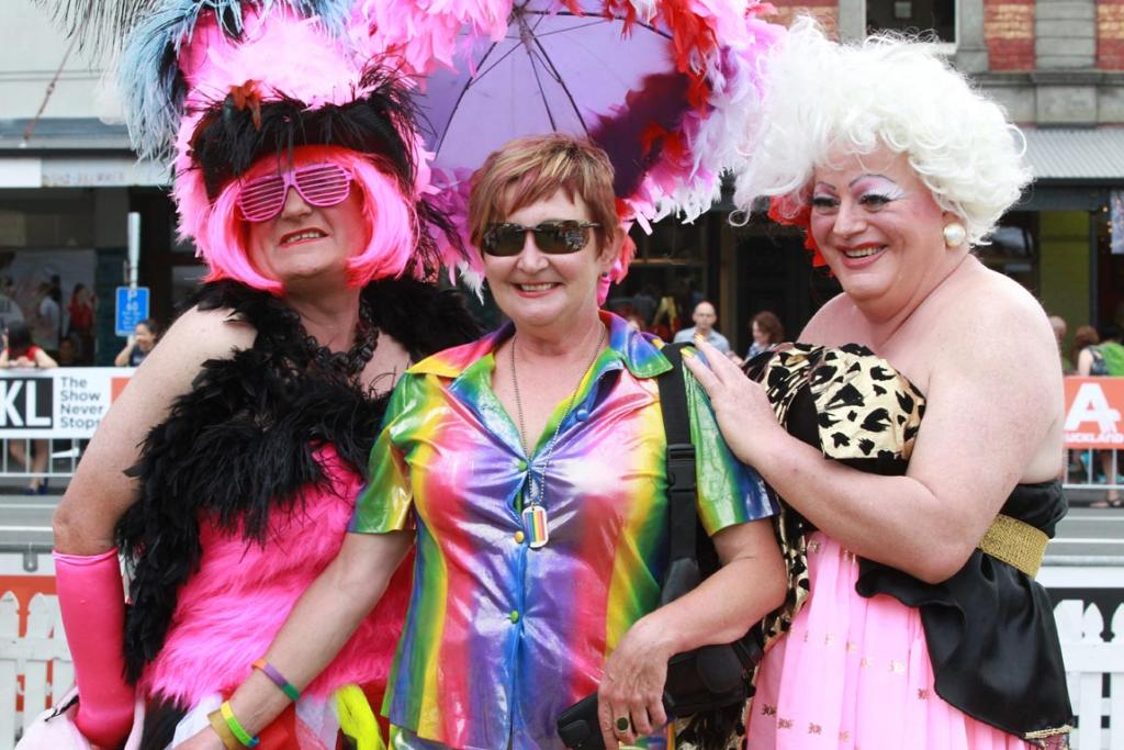 Glitz and glam at the Auckland Pride Parade.