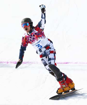 TWO-FOR-TWO: US-born Russian Vic Wild became the first snowboarder to win two gold medals at the same Olympics, after taking out the men's parallel slalom title.