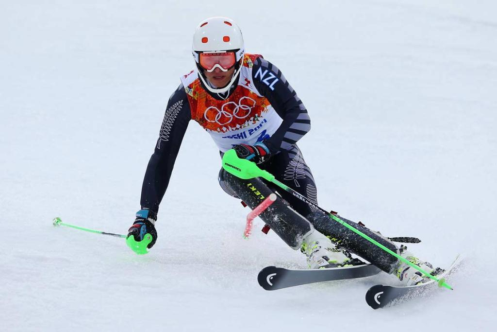 Queenstown's Adam Barwood completed his first slalom run in 54.21 seconds.