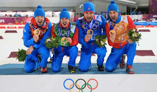 Russian relay gold