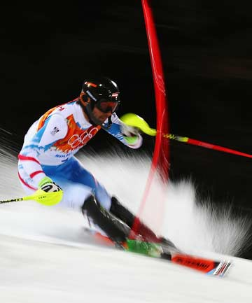 GOLDEN AGE: Austria's Mario Matt held off compatriot Marcel Hirscher to become the oldest alpine skiing gold medal winner.