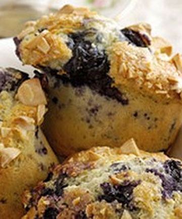 Blueberry and almond muffins