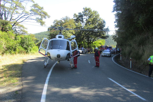 Nelson Marlborough Rescue Helicopter airlifts a Blenheim woman to hospital