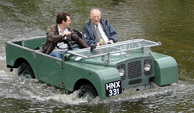 A 1948 Land-Rover being driven through the current factory test route almost 66 years on.