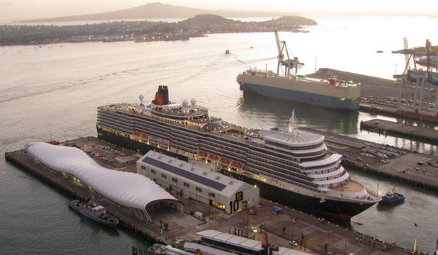 LUXURY LINER: Cunard's Queen Elizabeth, docked at Shed 10 in Auckland