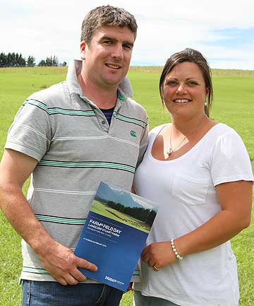 Luke Wright and his partner Nicola Esler manage Landcorp's Stuart Farm in the Te Anau Basin.