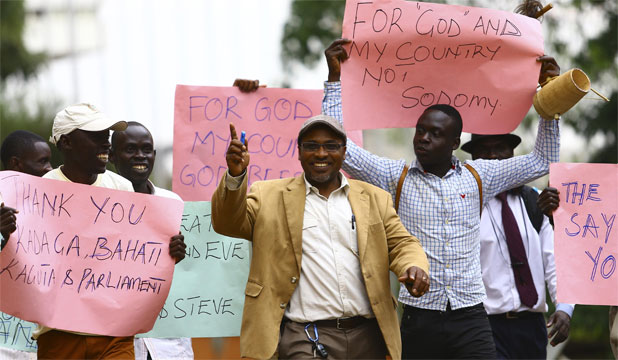 uganda anti-gay protesters