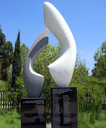 POSSIBLE INSPIRATION: A memorial for Cerritos Air Disaster, which took place in California in 1986.