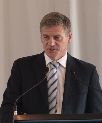FOR SALE: Finance Minister Bill English announces the details of the Genesis Energy selldown.