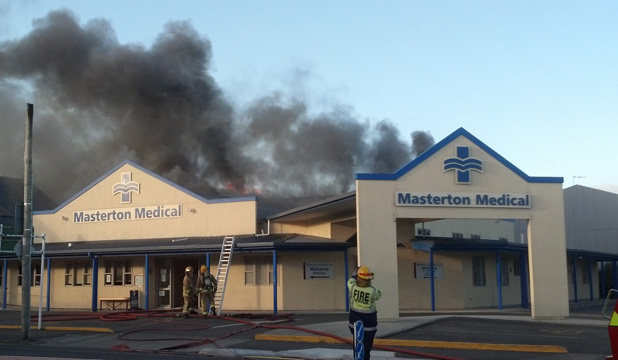 Masterton medical centre on fire