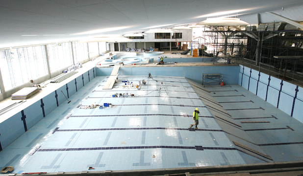 cbay, caroline bay aquatic centre, tiles