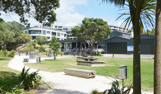 PRECARIOUS PROTECTION: The public doesn't realise not all the space in front of the Takapuna Beach Cafe is a public reserve,  Mike Cohen says.