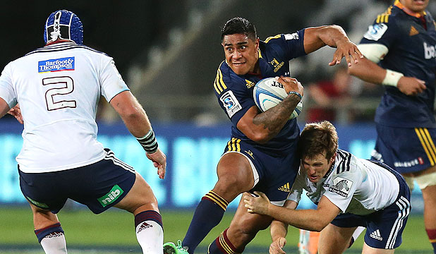 PRIME MOVER: Highlanders centre Malakai Fekitoa on the burst against the Blues last weekend.