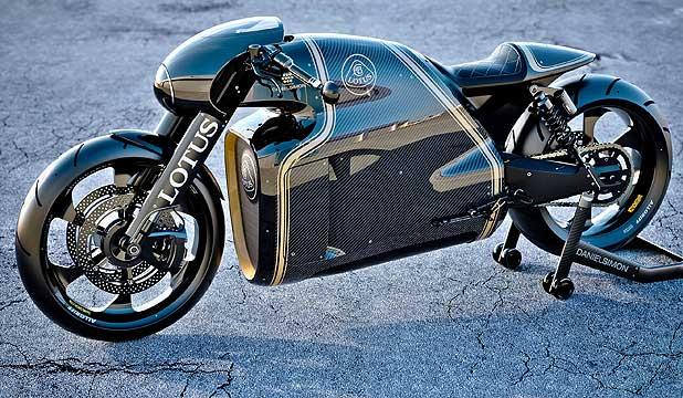 LOTUS MOTORCYCLES C-01: If you think it looks like it came out of Hollywood, then your instincts are right on the money.