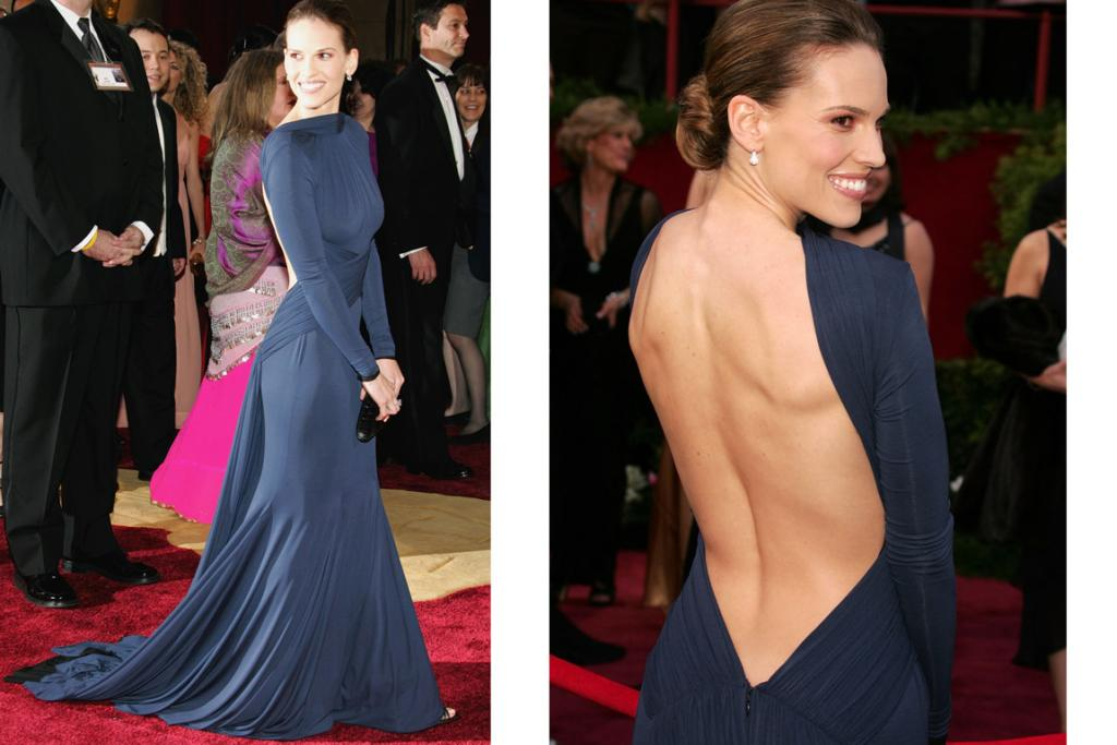 THE DRESS WITH ITS OWN WIKIPEDIA: Hilary Swank's Guy Laroche struck exactly the right chord back in 2005.
