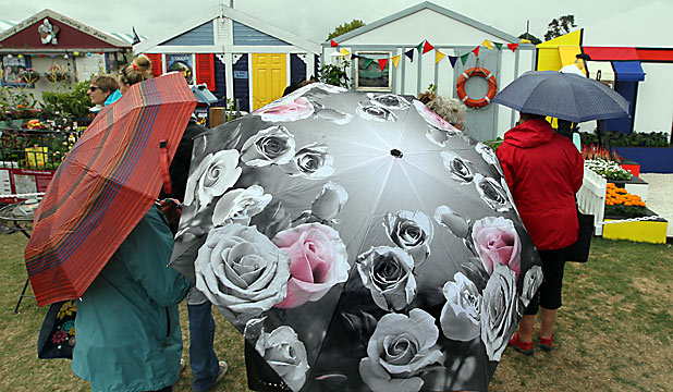 Umbrellas at Ellerslie Flower Show
