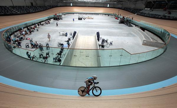 OPEN DAY: People enjoyed visiting the Avantidrome track cycling stadium near Cambridge, where Auckland track cycling squad member Hannah Gumbley, 16, was training.