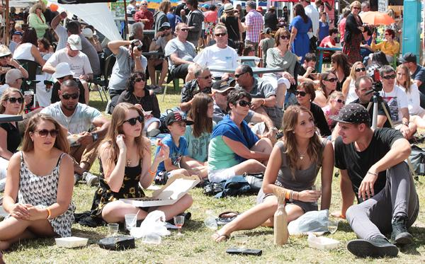 SUNNY CONDITIONS: The weather played its part providing an ideal day for festival goers.