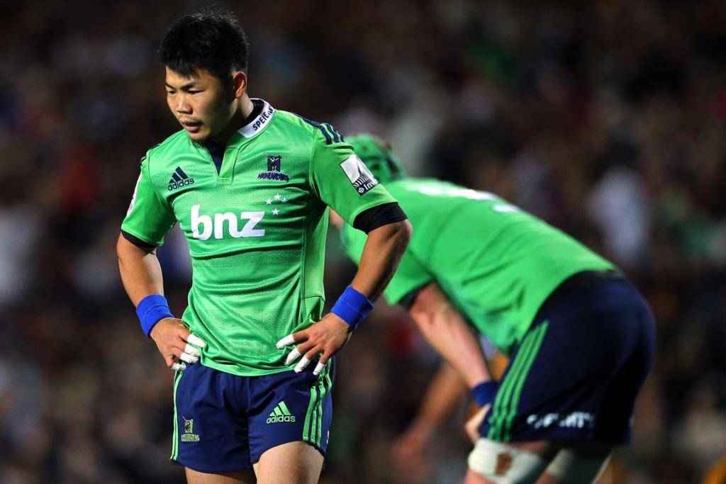 The Highlanders' disappointment is written on the face of replacement halfback Fumiaki Tanaka.