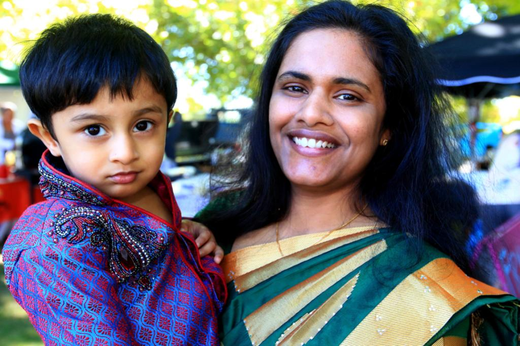 Leena Alias and 1 year old Aaron Alias are from India.