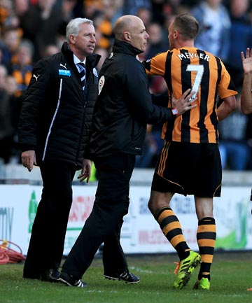 TROUBLE: Newcastle manager Alan Pardew is facing a long ban after being charged by the FA for headbutting an opposing player.