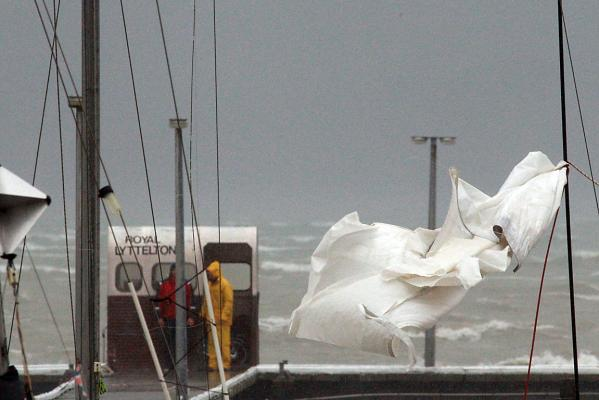 Torn sail in Lyttelton