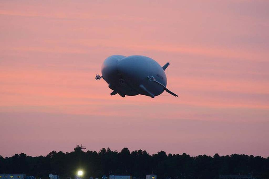 "The helium-filled HAV 304 ""Airlander"" is a cross between an airship, a plane, a helicopter and a hovercraft. It can stay aloft for three weeks, carry loads up to 10,000 kilograms and set down on land, water or ice."